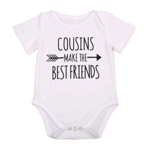 Primos tomar las mejores amigos Nuevo Bebé Chaleco Bodysuit Ducha Tía Regalo Chicos Reino Unido