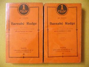 CHARLES DICKENS BARNABÉ RUDGE HACHETTE 1911 LITTÉRATURE ANGLAISE - France - Reliure: Couverture souple Date de publication: 1911 - France