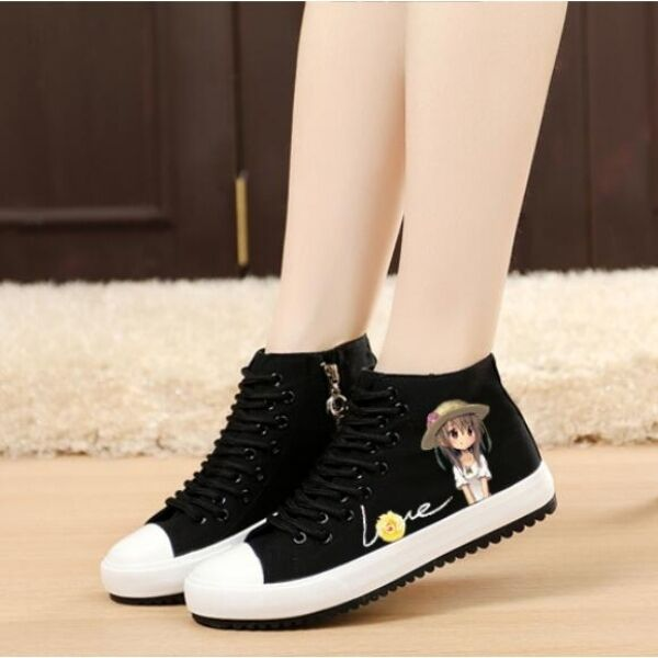 Sports shoes woman low black comfortable elegant like leather CW155