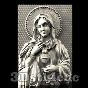 3D-Model-STL-CNC-Router-Artcam-Aspire-Religion-Virgin-Mary-Panel-Cut3D-Vcarve