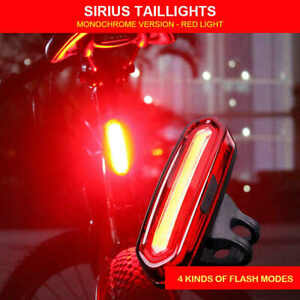120 Lumens LED Bike Tail Light USB Rechargeable Powerful Bicycle Rear Light CA