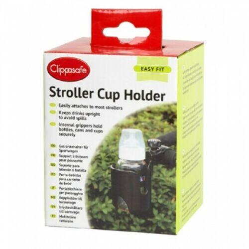 Clippasafe Stroller Cup Holder-NOIR