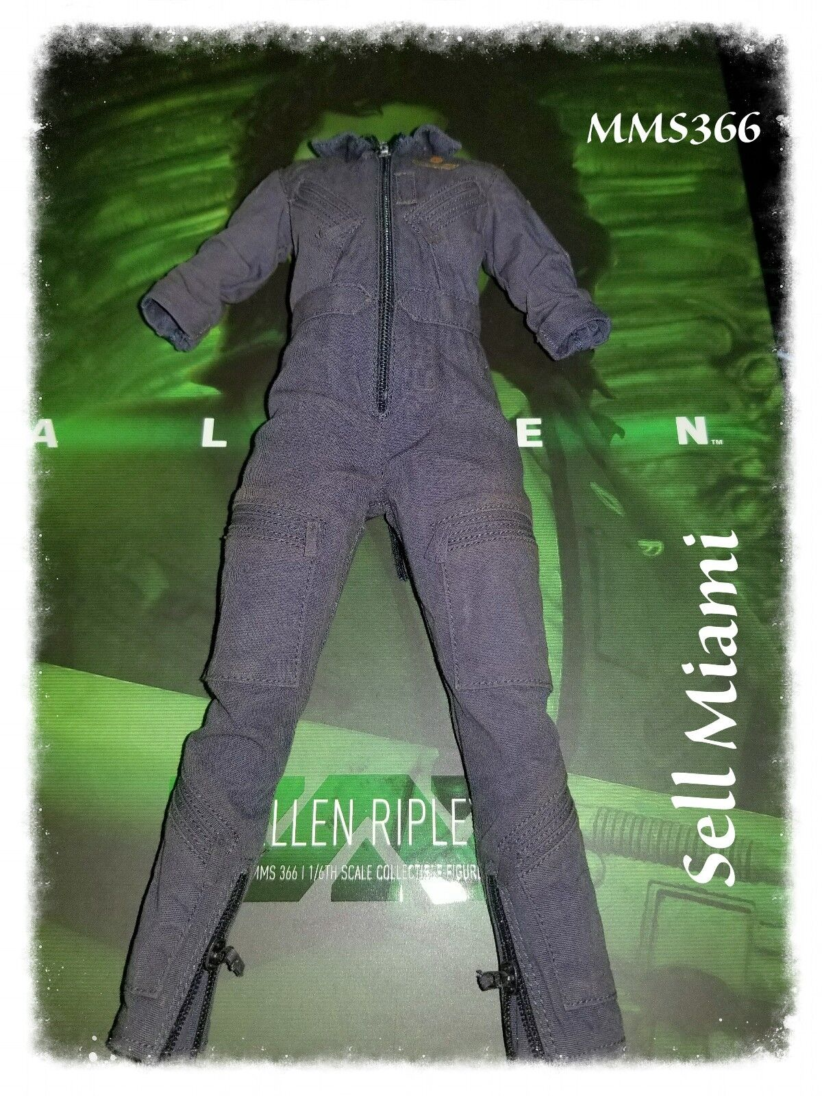1 6 Hot Toys Aliens Ripley MMS366 bluee colord Jumpsuit