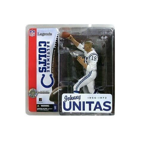 McFarlane McFarlane McFarlane NFL Legends 1 JOHNNY UNITAS variant no helmet-Baltimore Colts-HOF 4f2a26