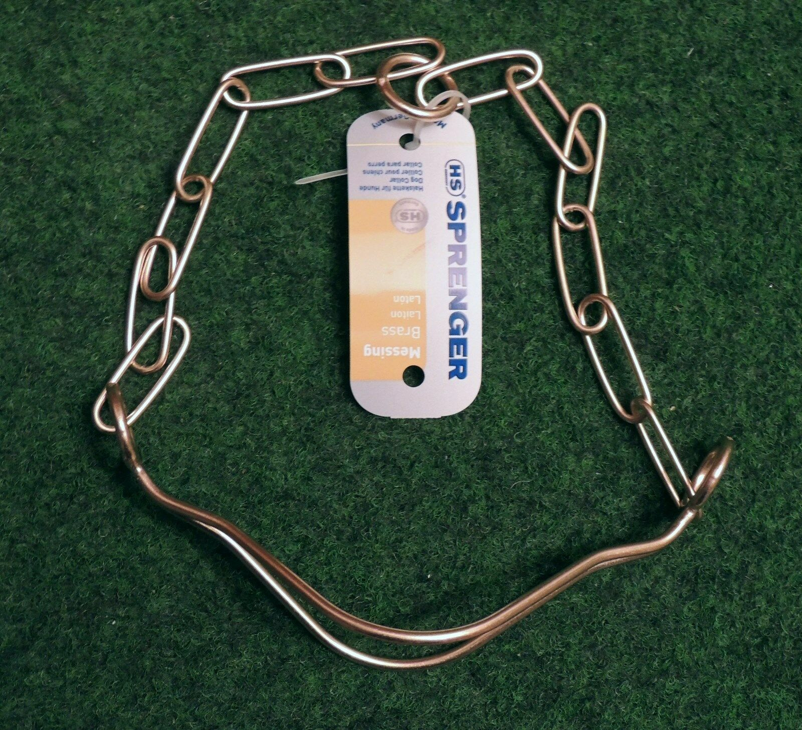 1 guarda collana in ottone 64cm HS Sprenger GERMANY collare da cane (cani schäferh.