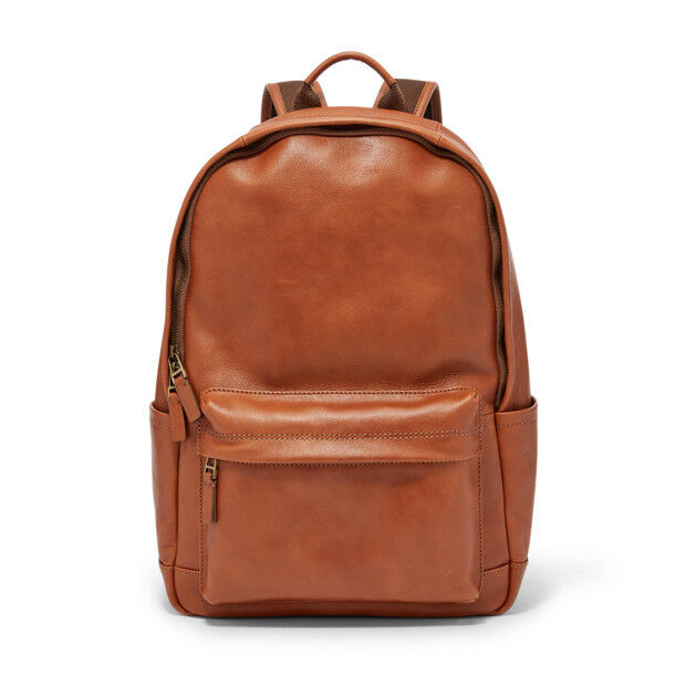 d8ae4342e8 Fossil Estate Casual Leather Backpack Cognac Mbg9350222 for sale ...