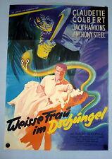 WEISSE FRAU IM DSCHUNGEL * Claudette Colbert - A1-EA-Filmposter 1952 RANK - RAR