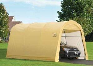 ShelterLogic 10x15x8 Round Auto Shelter Portable Garage ...