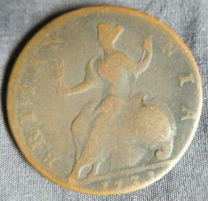 1731-Great-Britain-1-2-Penny-Coin-Britania-Seated-UK-English-Colonial-Half-Cent