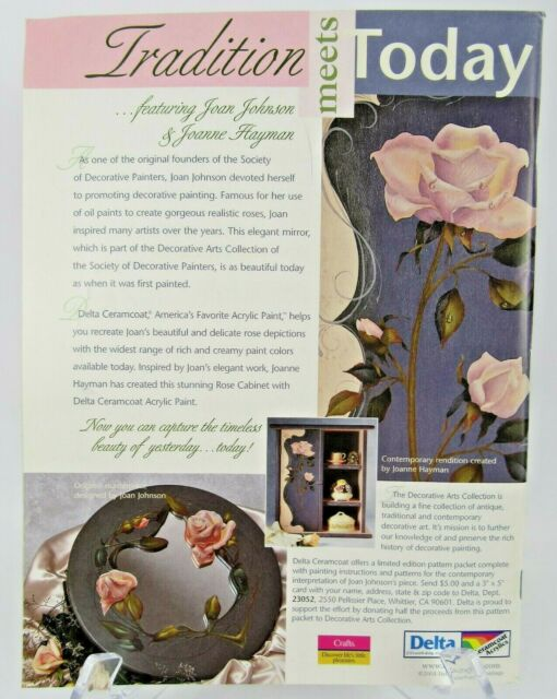Tole World Decorative Artist Painting Magazine Back Issue Aug 2002 Patterns For Sale Online Ebay