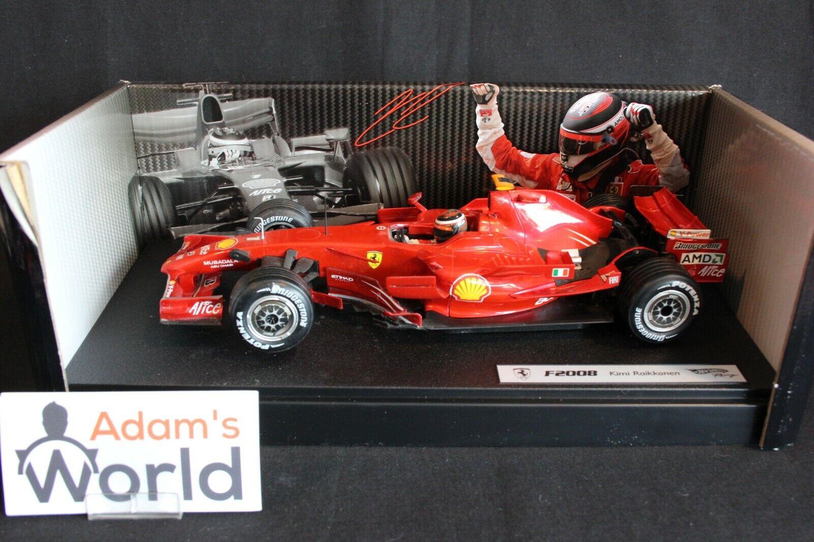 Hot Wheels Ferrari F2008 2008 1 18 Kimi Raikkonen (FIN) (PJBB)