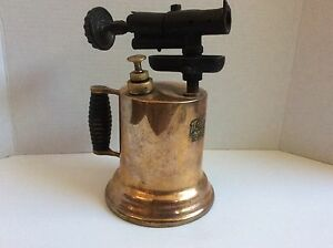 VTG-LAKESIDE-GUARANTEED-BRASS-COPPER-BLOW-TORCH-LIGHT-WORKSHOP-CRAFTS