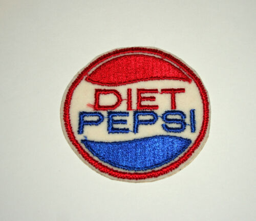 Rare 1970s Diet Pepsi Cola Soda Advertising Round Cloth Patch New NOS