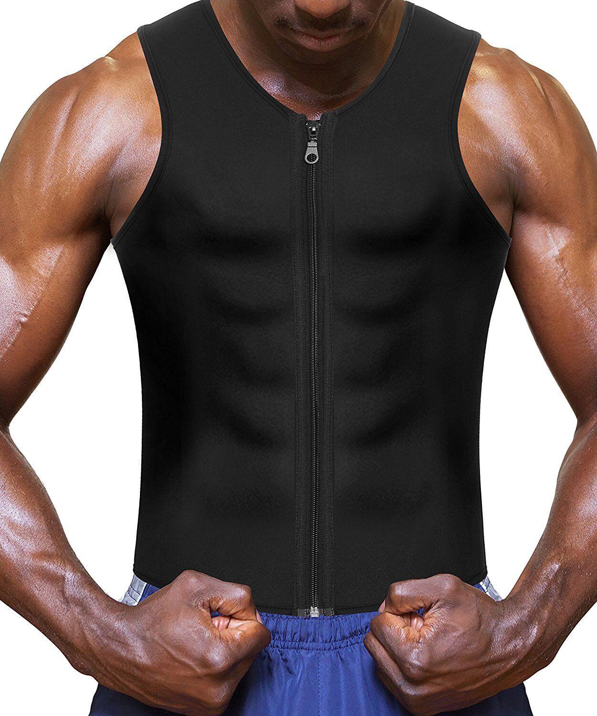 Men's Neoprene Vest Cami Hot Shaper Gym Tank Top Sauna Sweat