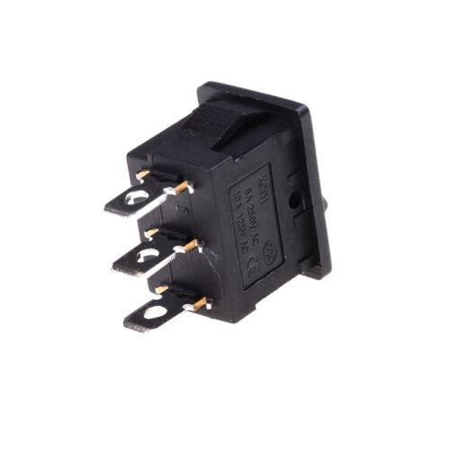 5x SPDT On//Off//On Mini Bk 3 Pin Rocker Switch AC 6A//250V 10A//125V CJG