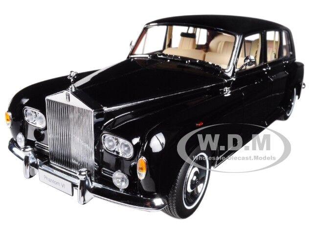 100% garantía genuina de contador Rolls Royce Phantom VI Negro Negro Negro  Diecast Modelo Coche por Kyosho 08905  online barato