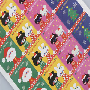 60x-DIY-Scrapbooking-Merry-Christmas-Gift-Sticker-Cookie-Labels-Stickers-iv