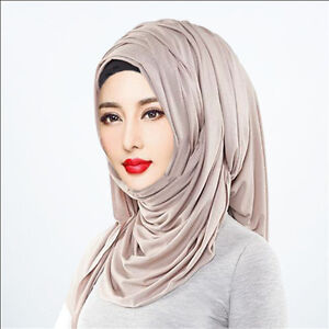 Hot-12-colors-women-scarf-jersey-shawl-cotton-muslim-hijab-maxi-180-80cm-scarves