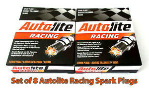 NEW-Set-of-8-pack-Autolite-AR3923-Racing-Spark-Plugs-Hi-Performance-14mm-750-034