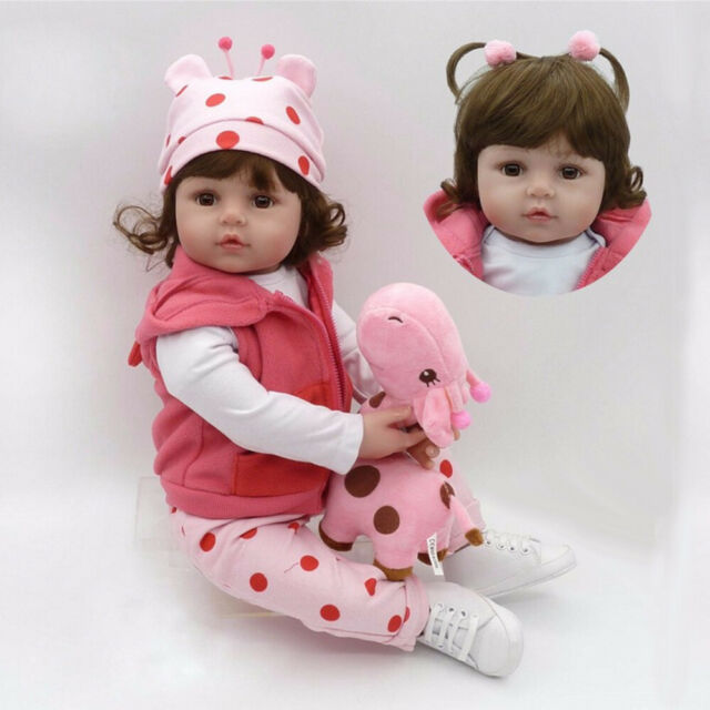"""22/"""" Reborn Baby Dolls Vinyl Silicone Boy Doll Lifelike Newborn Babies Xmas Gifts"""