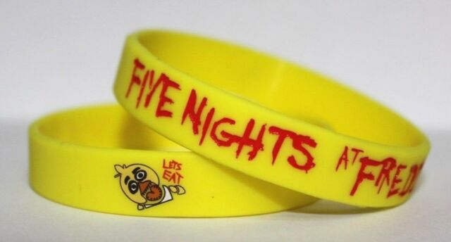 FNAF FIVE NIGHTS AT FREDDY'S SILICONE BRACELETS NEW LOOK!! Birthday Party