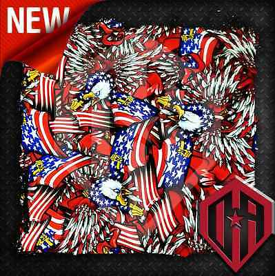 HYDROGRAPHIC WATER TRANSFER FILM HYDRO DIP AMERICAN FLAG EAGLE FREEDOM 2M