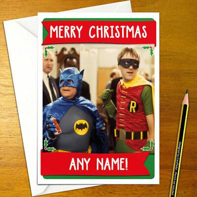 BATMAN Personalised Christmas Card west robin bat funny happy xmas holiday