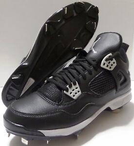 9d202ed9d3d Nike Air Jordan 4 IV Retro Metal Mid OREO Black Baseball Cleats ...