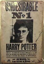 Genuine Harry Potter Ministry of Magic Small A5 Steel Sign Tin Wall Door Plaque