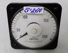General Electric 0 200 Ac Amperes Panel Meter 50 103131lsrl2