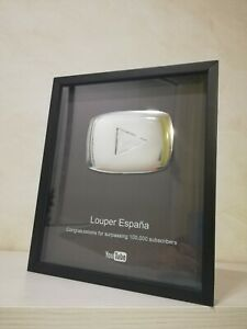 Placa-de-YouTube-100-000-subscriptores-Personalizable-Replica-Boton-Plata-Premio