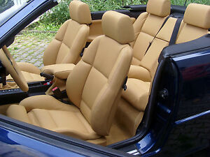 Bmw 3 Series E36 Convertible Leather Seat Covers Real Automotive Standardleather Ebay
