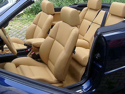 BMW 3 series e36 convertible leather seat covers real automotive standardleather