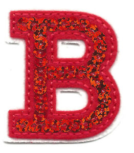 letter appliques iron on letters sequin 2 quot letter quot b quot iron on embroidered 8205