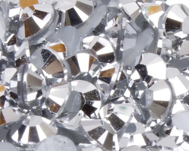 1000 Choose Colour Crystal Flat Back Nail Art Rhinestones Gems Glitter Beads