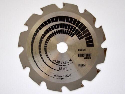 accu cordless Construct WOOD 16mm 12 Zähne BOSCH Kreissägeblatt 130mm