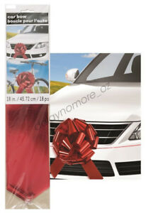 Giant Red Car Gift Bow Party Decorate Large Birthday Christmas Foil Metallic