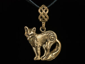 Celtic-Fox-Pendant-brass-handmade-Norse-Pendant-Viking-Jewelry