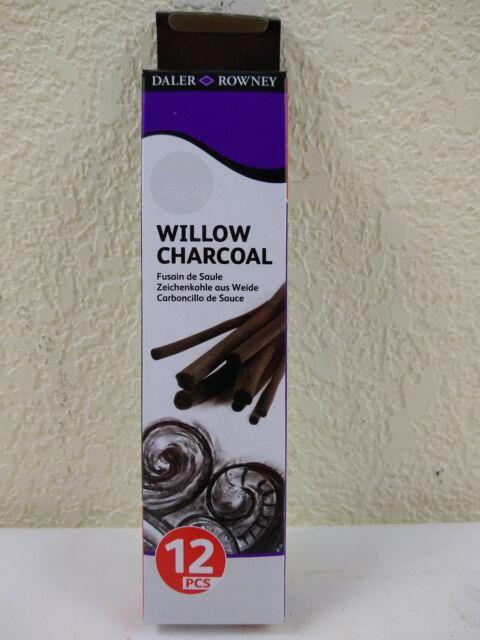 25 medium sticks Daler Rowney Willow Charcoal