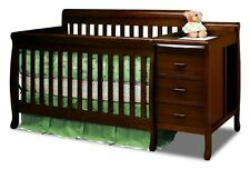Athena Kimberly 3-in-1 Convertible Crib and Changer Combo in Espresso 518E NEW