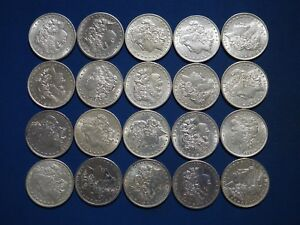 1878-1904-Morgan-Silver-Dollars-XF-AU-Pre-1921-Mix-Dates-1-Roll-Lot-of-20-Coins