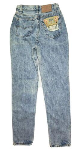 "VTG Levis 17501 Acid Wash Jeans Button Fly 24"" x 3"