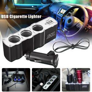 Sdoppiatore-accendisigari-AUTO-presa-3-USB-PORTA-Splitter-Caricabatteria-Tripla
