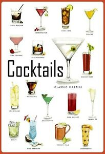 Cocktails-Variationen-Bar-Blechschild-Schild-gewoelbt-Tin-Sign-20-x-30-cm-FA0727