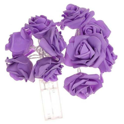 3M LED Artificia Rose Flower Fairy Lights String Wedding Party Decor Robust
