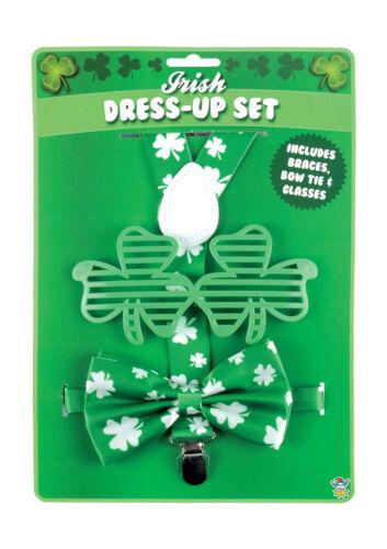 PATRICK`S DAY PARTY FANCY DRESS COSTUME ACCESSORY IRISH CLOVER GOLD LOT UK ST