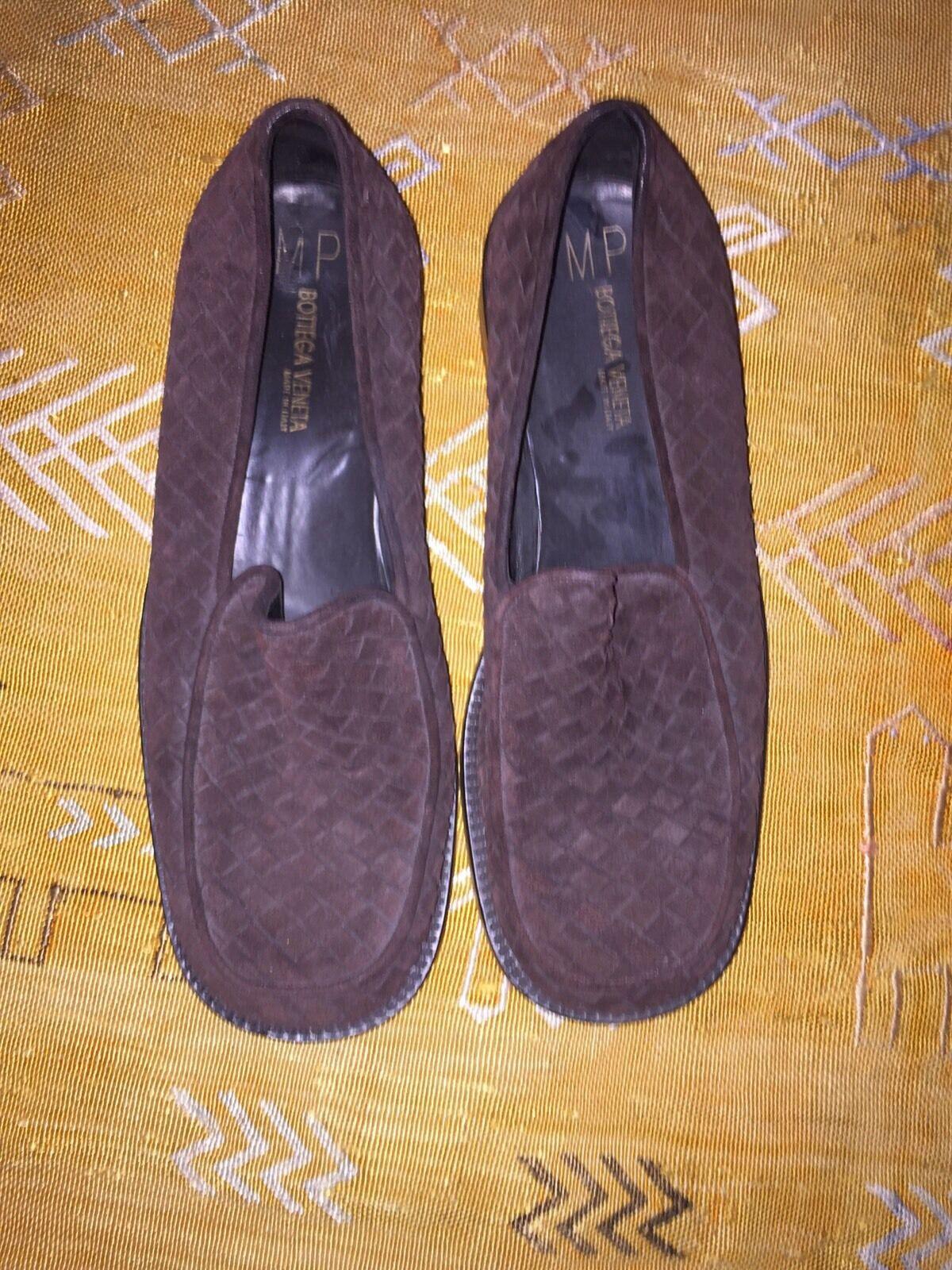 Bottega Veneta Woven Scarpe Brown Leather Loafers Scarpe Woven classiche da uomo 33e86b