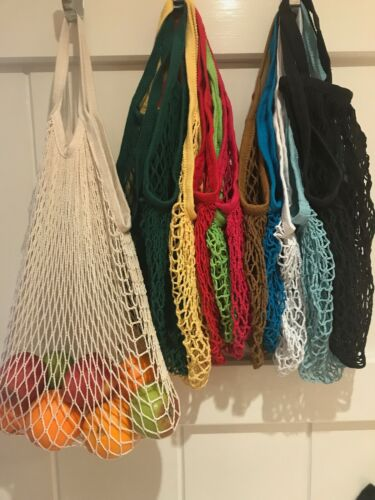 Reusable Colourful  Net Shopping Storage String Grocery Tote Bag Uk Despatch
