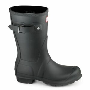 Hunter Original Short Wellington Ladies Black Rain Boots 11