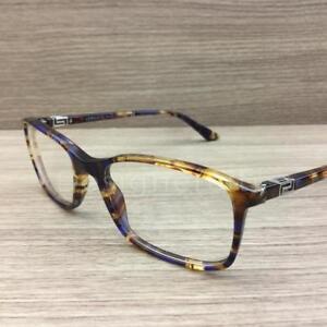 1e2b94f7f2 Image is loading Versace-3163-Eyeglasses-Blue-Spotted-Havana-992-Authentic-